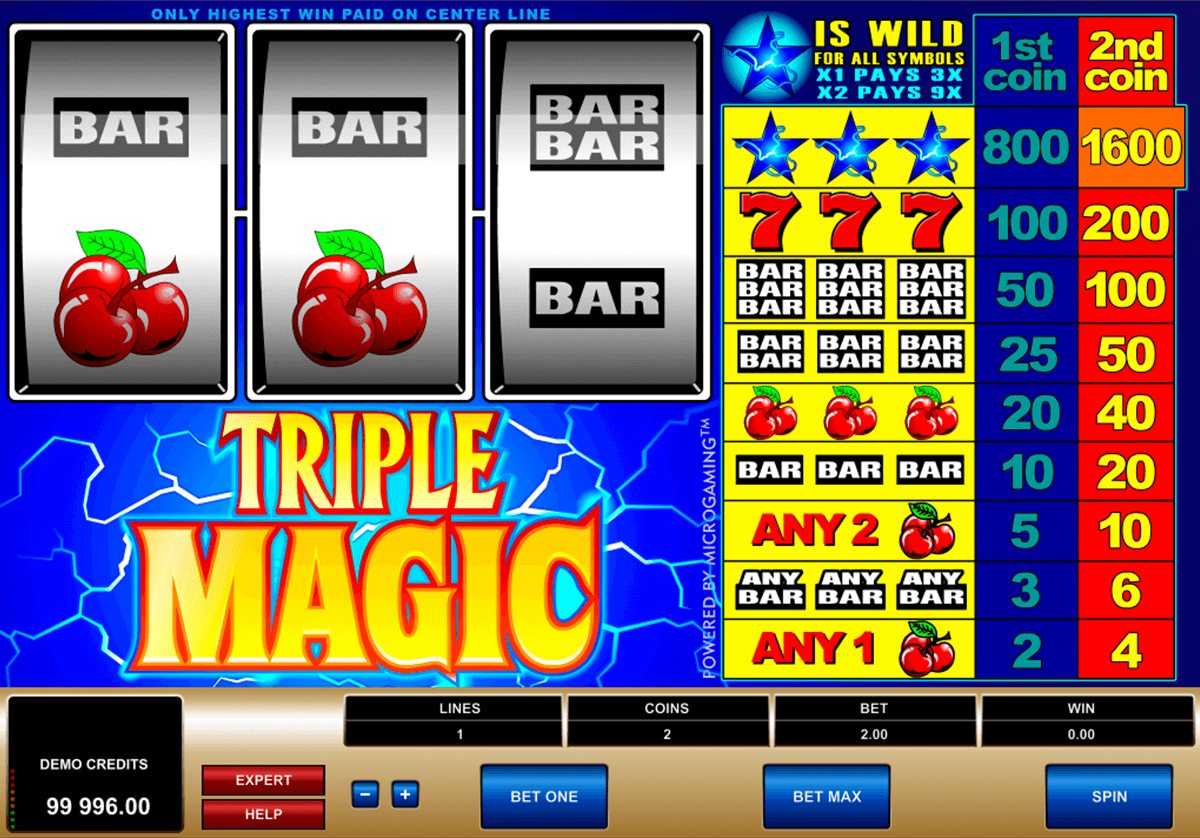 triple magic microgaming casino slot spel
