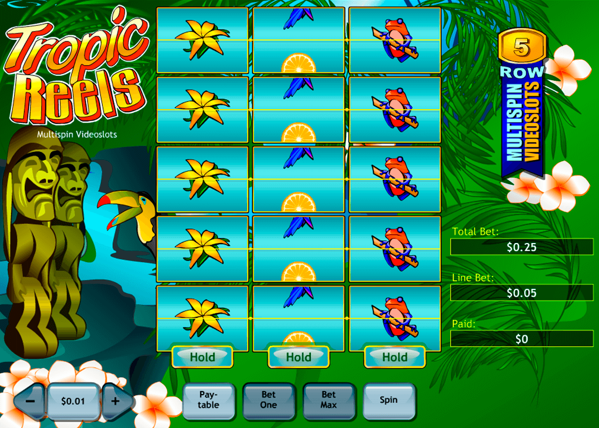 tropic reels playtech casino slot spel