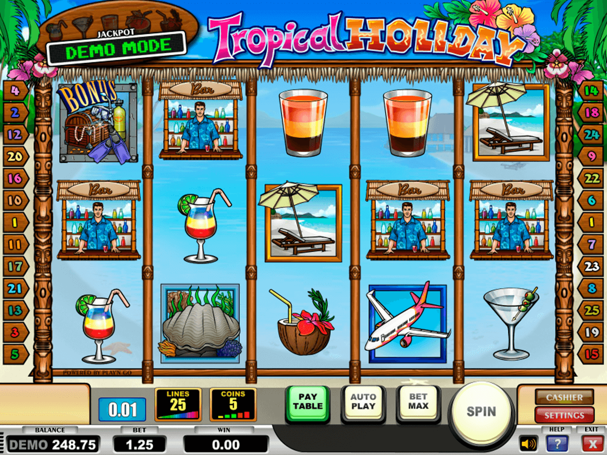 tropical holiday playn go casino slot spel