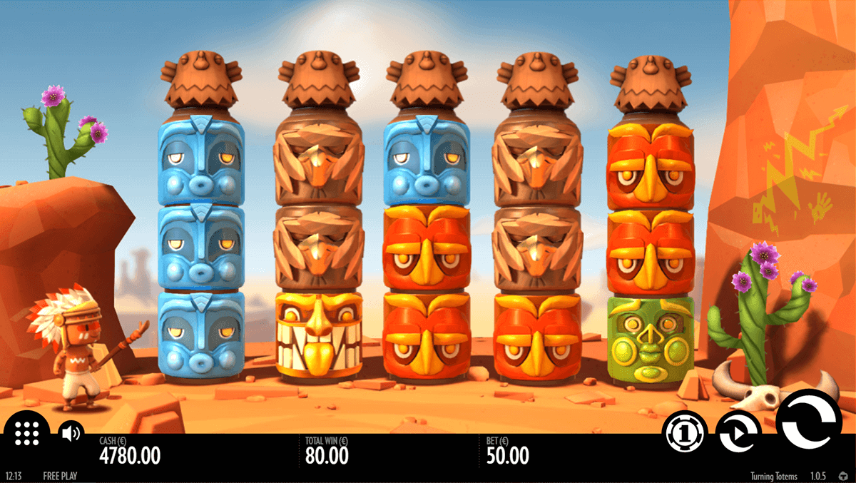 turning totems thunderkick casino slot spel