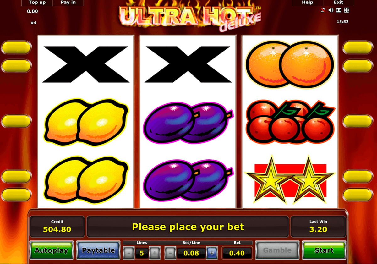 ultra hot deluxe novomatic casino slot spel