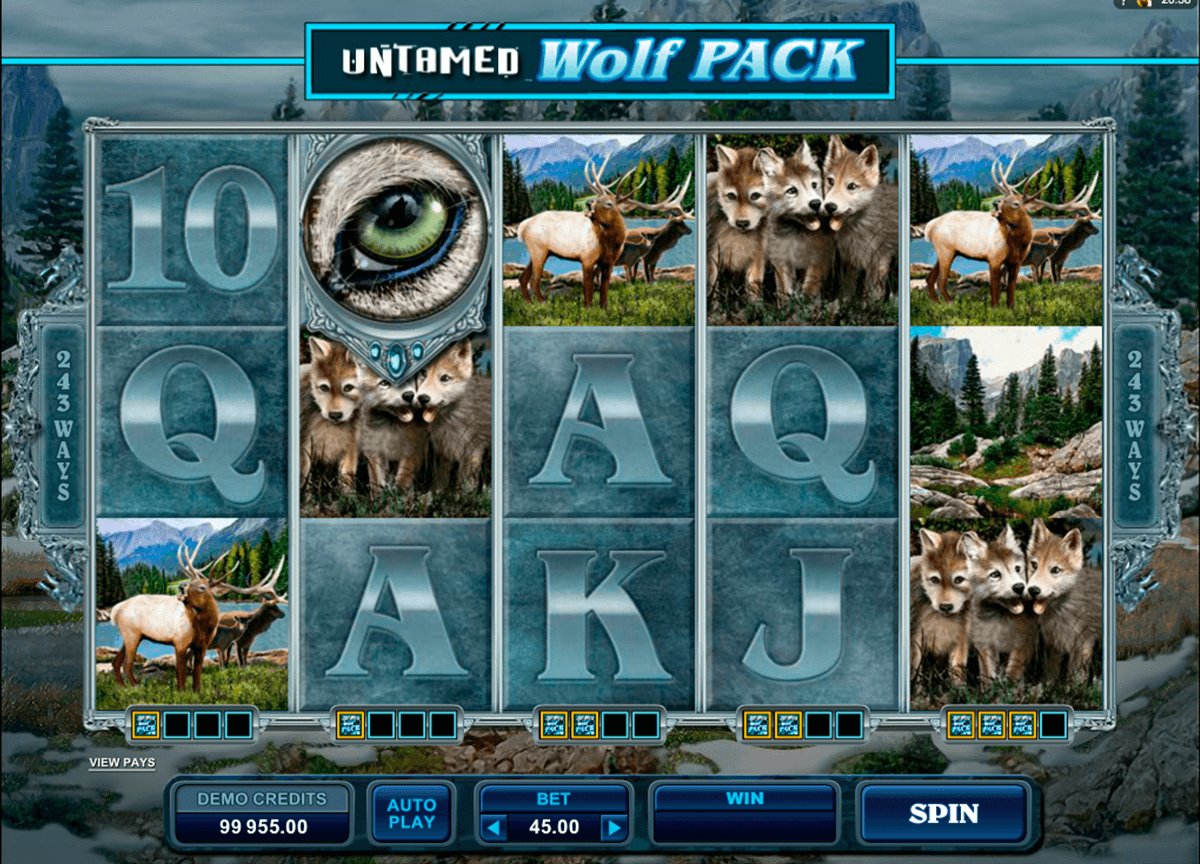 untamed wolf pack microgaming casino slot spel