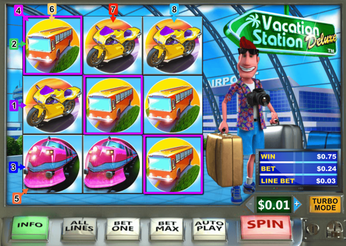 vacation station deluxe playtech casino slot spel