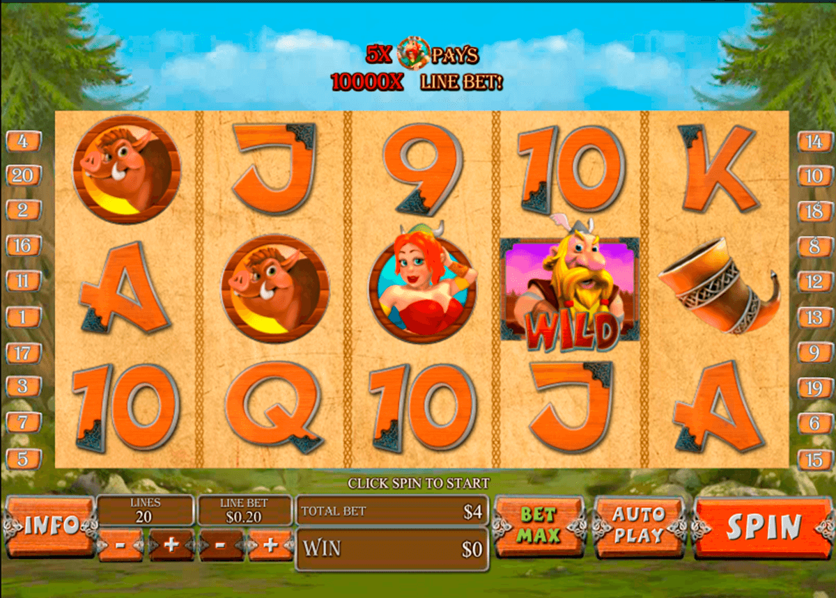 vikingmania playtech casino slot spel