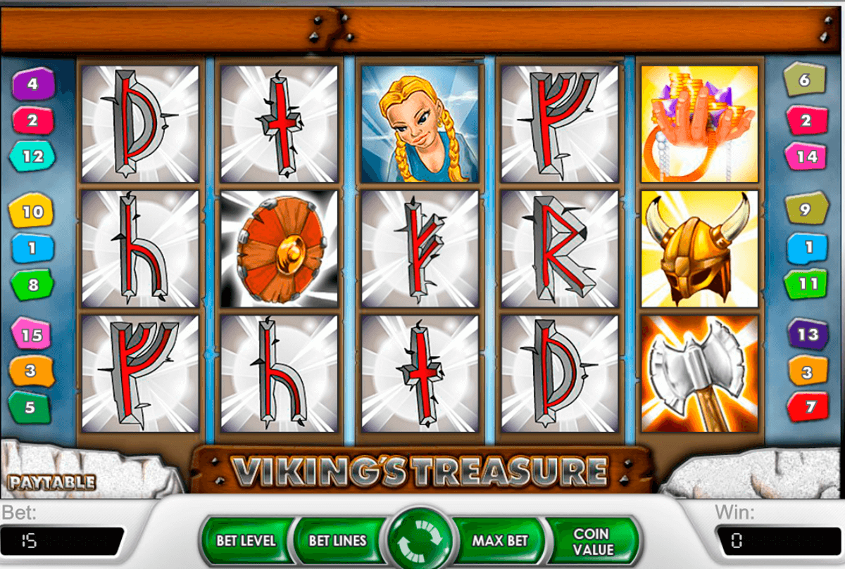 vikings treasure netent casino slot spel
