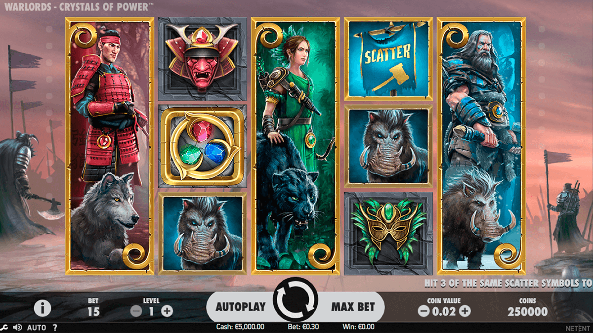 warlords crystals of power netent casino slot spel