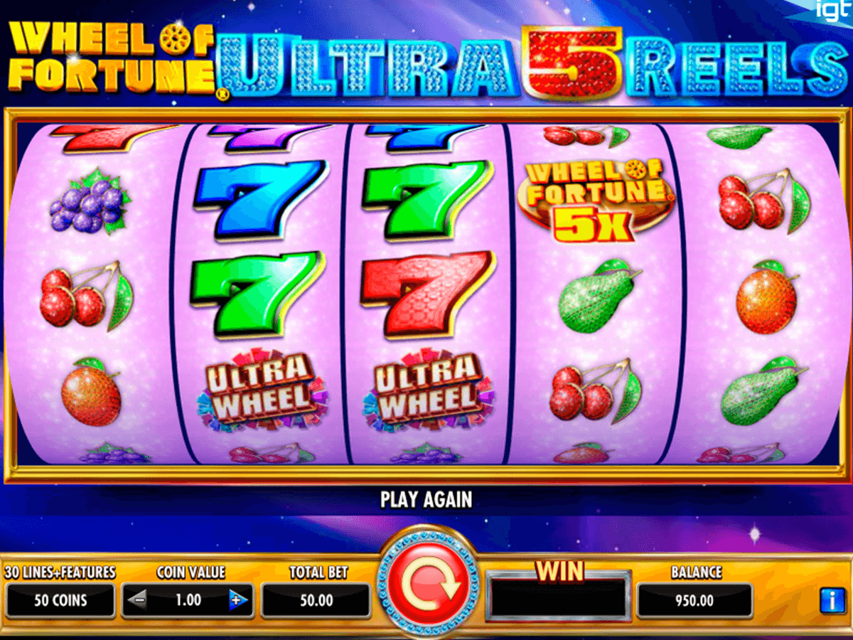 wheel of fortune ultra 5 reels igt casino slot spel