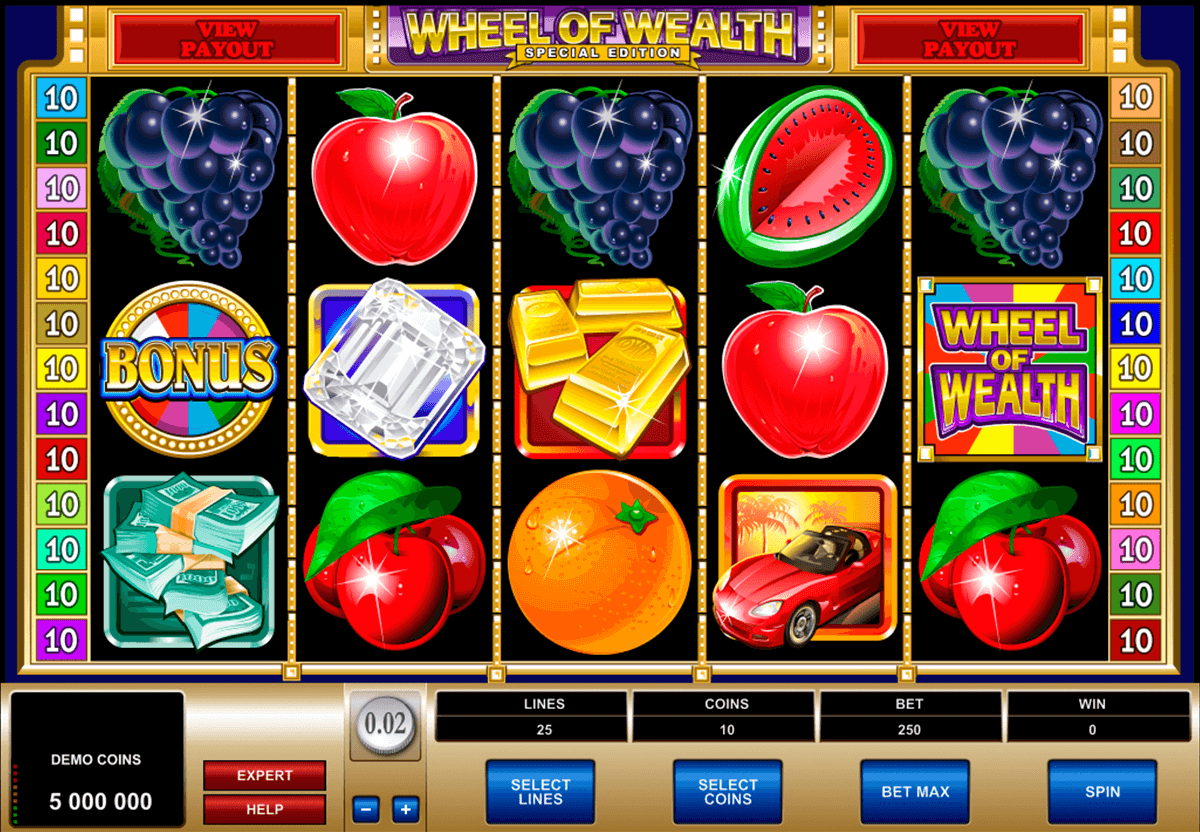 wheel of wealth special edition microgaming casino slot spel