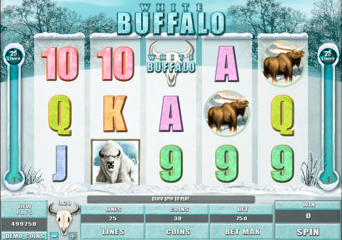 white buffalo microgaming casino slot spel