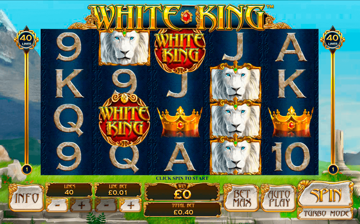 white king playtech casino slot spel