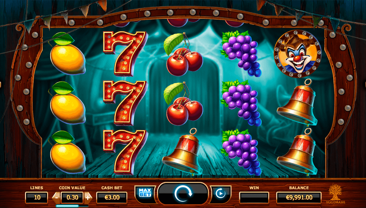 wicked circus yggdrasil casino slot spel