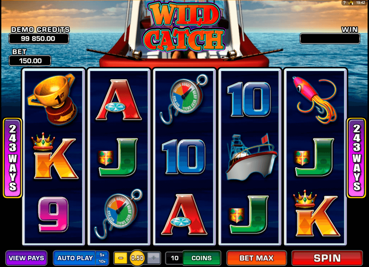 wild catch microgaming casino slot spel