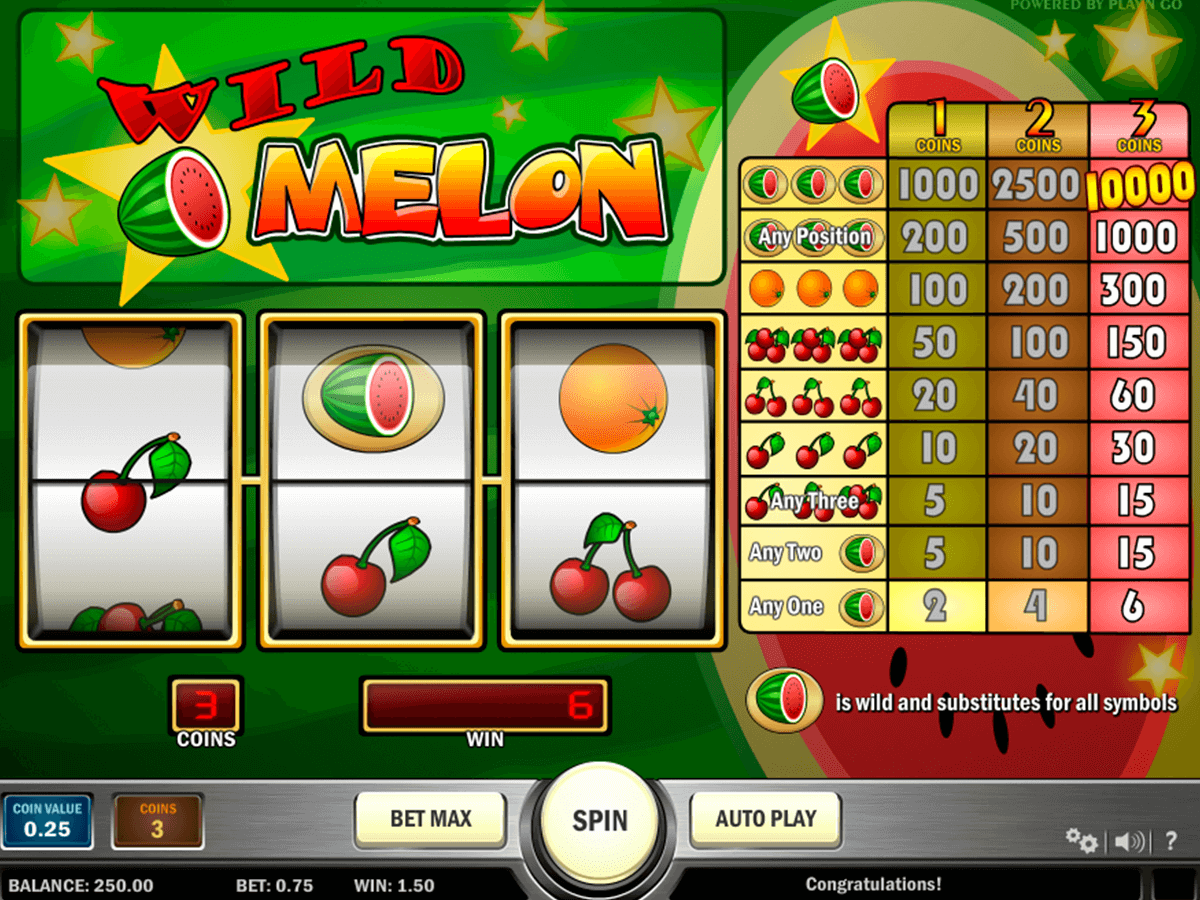 wild melon playn go casino slot spel