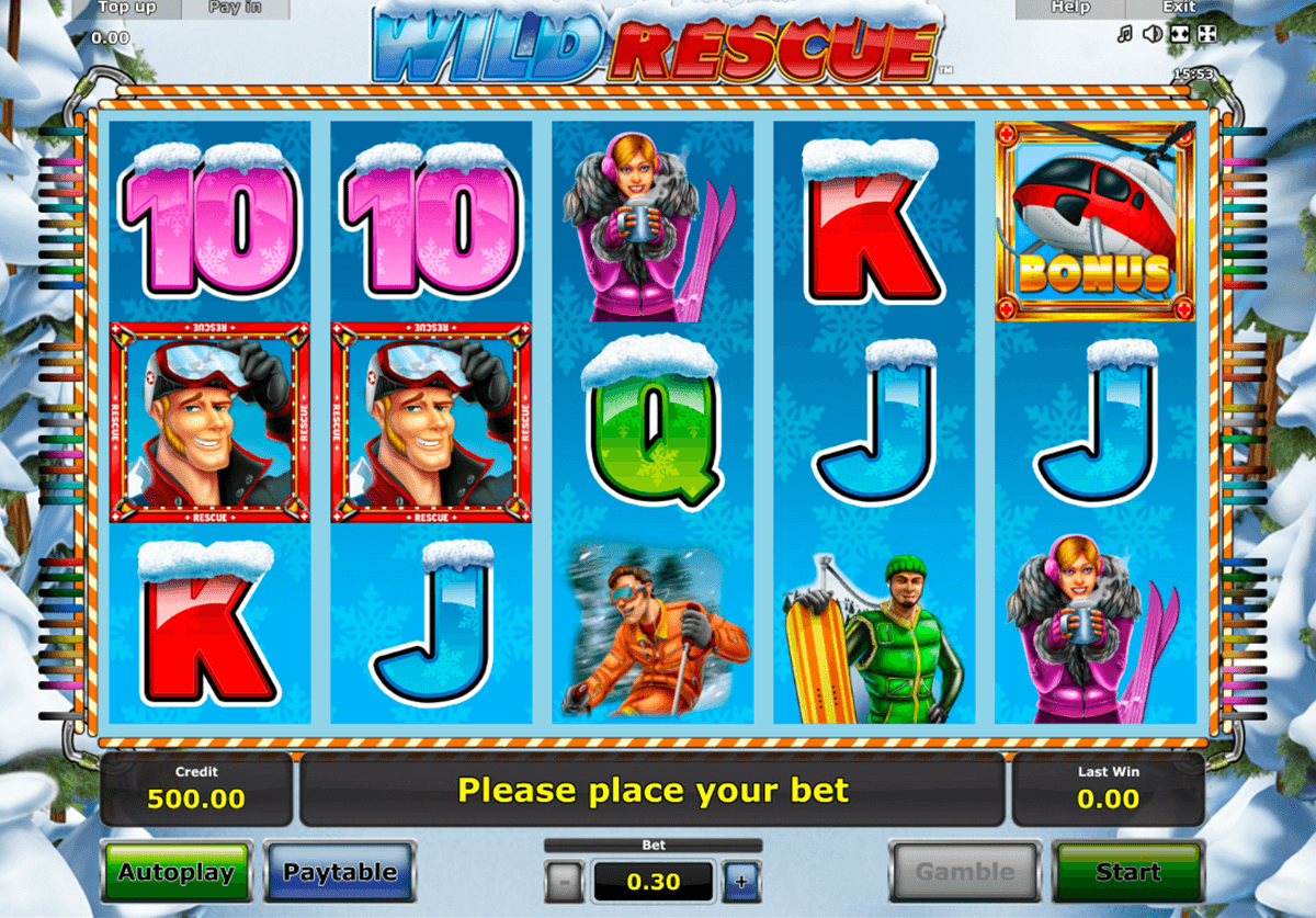 wild rescue novomatic casino slot spel