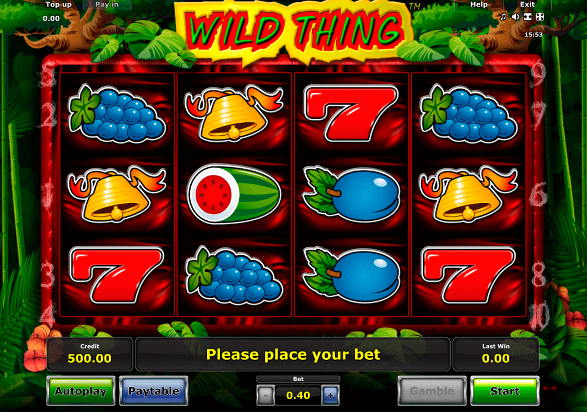 wild thing novomatic casino slot spel