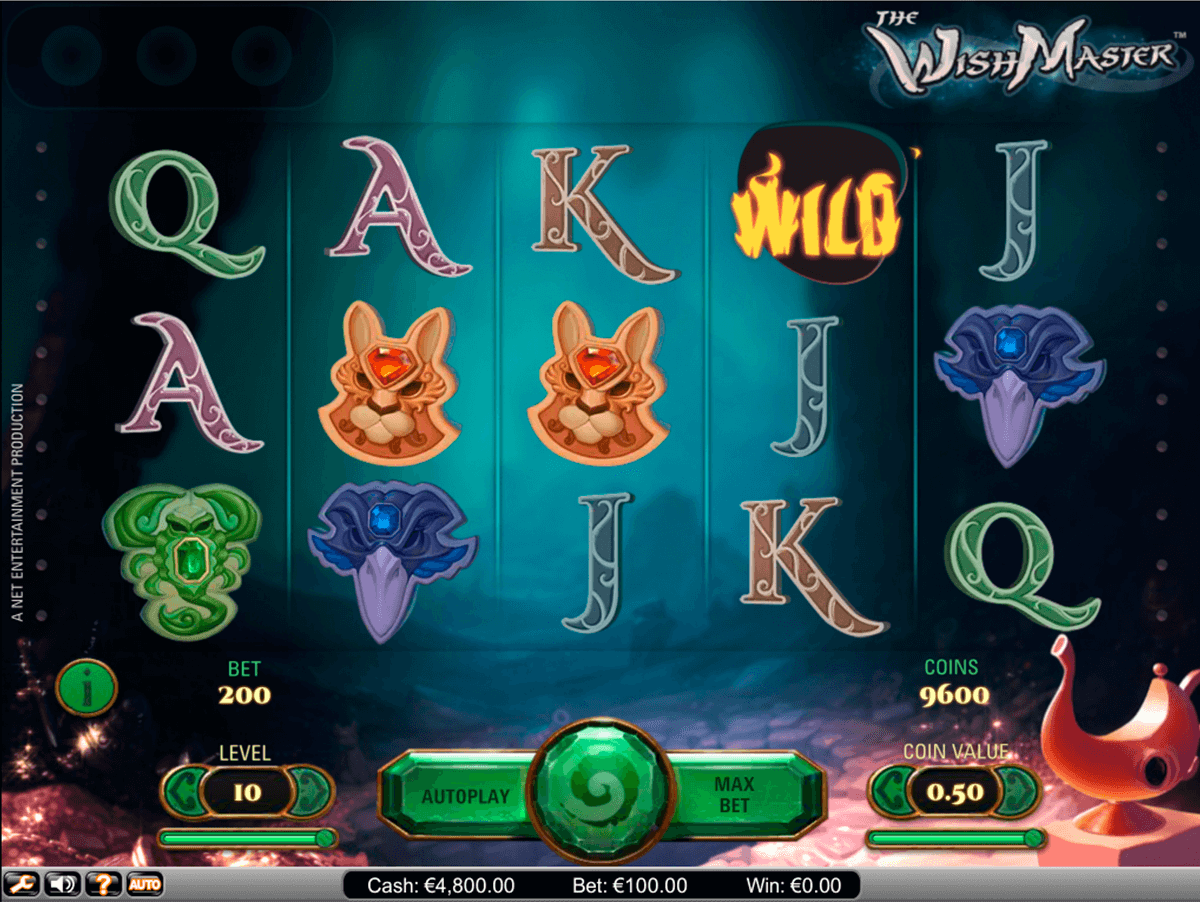 wish master netent casino slot spel