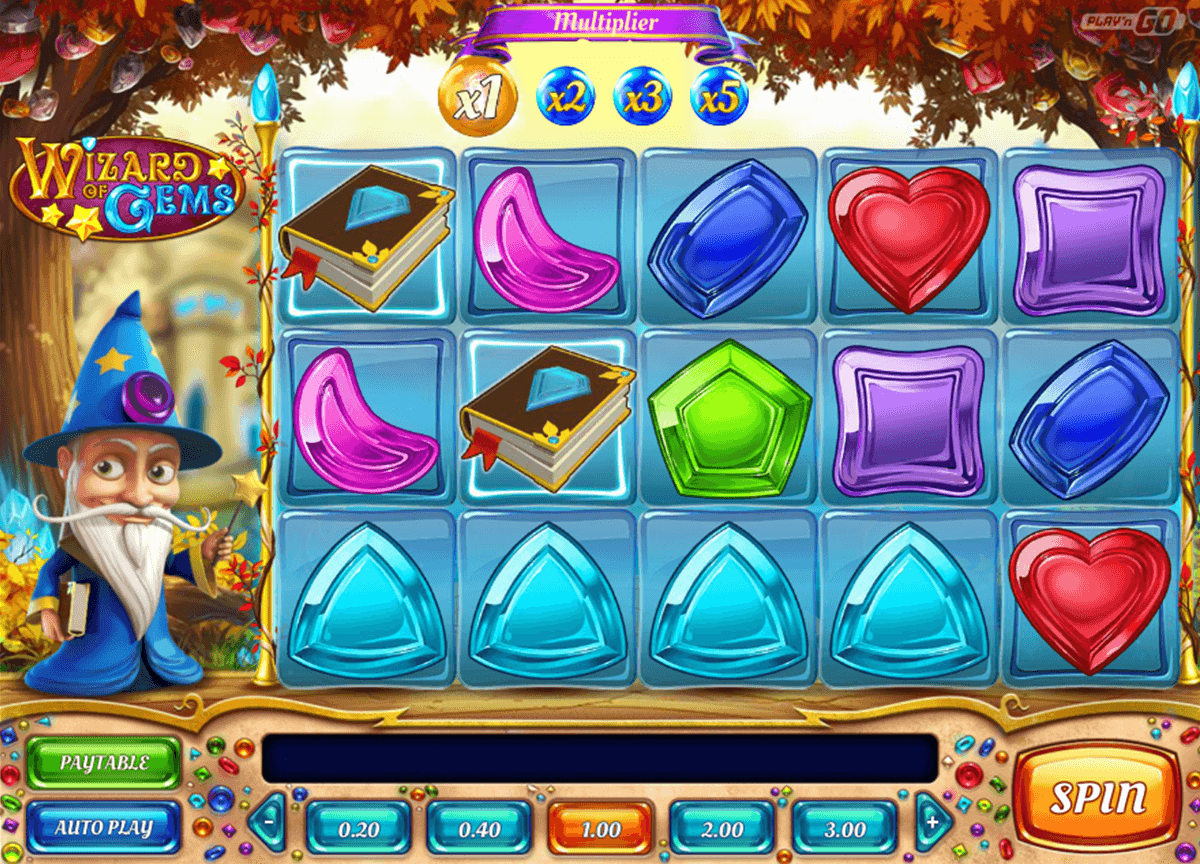 wizard of gems playn go casino slot spel