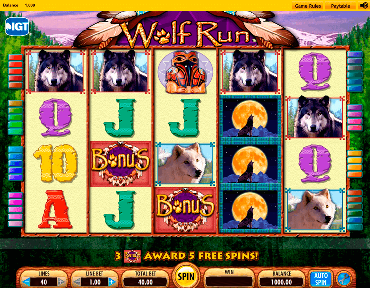 wolf run igt casino slot spel
