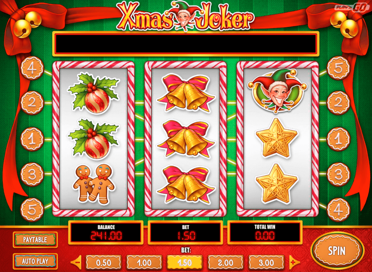 xmas joker playn go casino slot spel